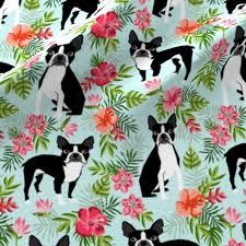 Boston Terrier Flag Boston Terrier Hawaiian Fabric Fabric Petfriendly Spoonflower