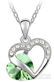 green heart pendant necklace images Wholesale heart shaped green diamond pendants hot sales pendant jpg