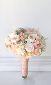 rose gold rose quartz bridal bouquet preserved flowers not dried