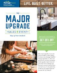 raleigh major upgrade sales event meritage homes