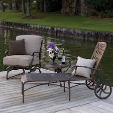 Wrought Iron Patio Chaise Lounge Blue Painted Wrought Iron Garden Furniture Patio Stock Photo
