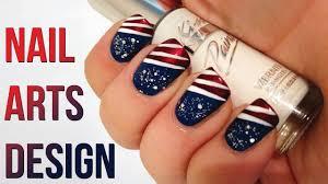 Design Of American Flag Nail Art Design Usa Nail Art Design 2017 How To Art Usa Flag