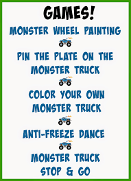 baking blondie monster truck birthday party