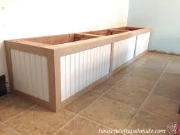 Diy Storage Bench Ideas by Dining Room Built In Bench With Storage A Houseful Of Handmade