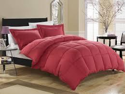 Down Alternative Comforter Twin Brick Red Down Alternative Comforter Set