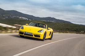 yellow porsche boxster porsche 718 boxster 2 litre pdk review prices specs and 0 60
