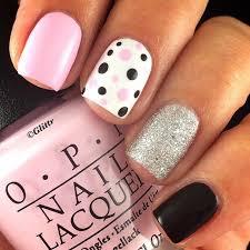 White Pink Nail Pink Black And White Nail Designs Graham