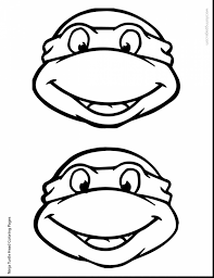 awesome ninja turtles head coloring pages with ninja turtle
