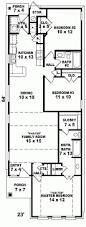 apartments floor plans narrow lot best narrow house plans ideas