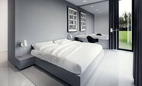 Black White Bedroom Furniture White Bedroom White Wall Painted White Wooden Platform Bed