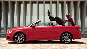 convertible audi 2016 2016 audi a3 s3 convertible top demonstration youtube