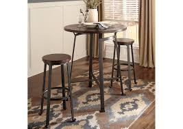Rustic Bar Table Landmark Home Furnishings Houma La Challiman Rustic Brown