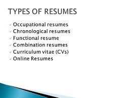 3 Types Of Resumes Open The Door To Opportunity Ppt Download