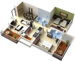 2 Bedroom Floor Plans With Basement House Design With Basement Basements Ideas