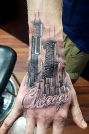 chicago bulls michael jordan skyline navy pier tattoo by omar