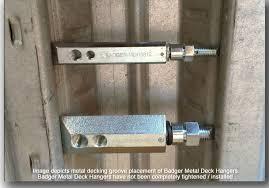 nusig badger industries no drill concrete metal deck hanger