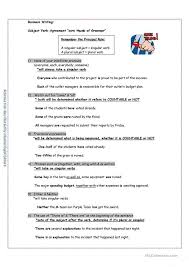 exercises for subject verb agreement with answers pdf best