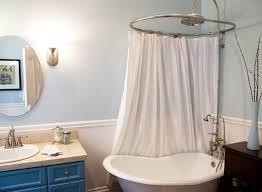 Design Clawfoot Tub Shower Curtain Rod Ideas Corner Shower Curtain Rod Bathroom Eclectic With Bath Blue Blue