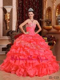 quinceanera dresses coral coral gown strapless floor length organza beading and