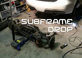 how to drop the sub frame on a mazda 6 mps youtube