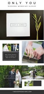 create your own wedding album wedding album template a clean modern wedding album design