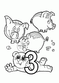 number 3 coloring pages for preschoolers counting numbers