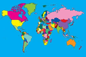 clear world map with country names country names choices