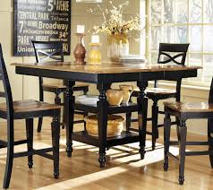 Union Park Dining Room by Coaster Ashley Counter Height Table Black Oak 104038 At