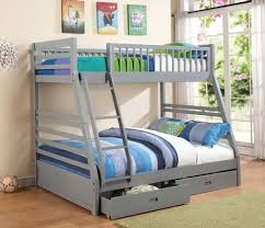 Bunk Beds  Full Over Full Size Bunk Beds Custom Triple Bunk Beds - Queen size bunk beds for adults