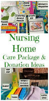 ideas for what to put in a nursing home care package or to donate