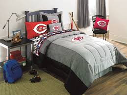 cincinnati reds mlb authentic team jersey bedding twin size