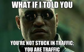 Traffic Meme - morpheus stuck in traffic funny meme funny memes