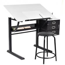 L Shaped Drafting Desk Adjustable Drafting Table Craft Drawing Desk Wstool Within