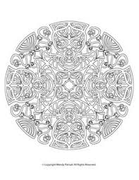 free printable mandala coloring mandalas color