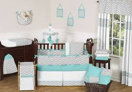 Gray And Turquoise Bedding Bedroom Attractive Modern Diaper Stacker Classic Brown Wood