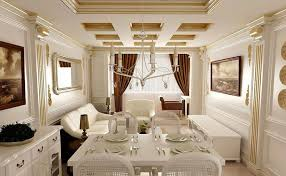 Neoclassical House by Living Room European Neo Classical Interior White Living Dining