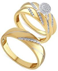 yellow gold wedding ring sets wedding ring sets shop wedding ring sets macy s