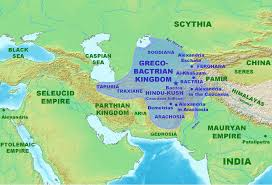 Ancient Map Of Greece by Map Of The Greco Bactrian Kingdom Illustration Ancient History