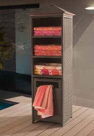 outdoor wicker storage cabinet storage indoor pool towel storage as well as wicker pool towel