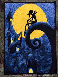nightmare before christmas wall quilt with embroidered oogie