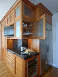 wood and glass cabinet clever ways of adding wine glass racks to your home s décor