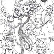 skellington coloring page coloring pages ideas