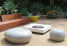 pebble outdoor coffee table cast stone seating pebble creative living
