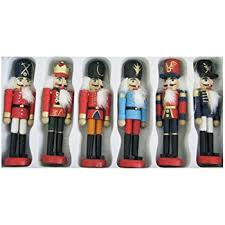 nutcracker ornaments kurt adler wooden nutcracker ornament set home kitchen
