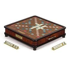 Board Game Storage Cabinet Amazon Com Scrabble Luxury Edition Board Game Toys U0026 Games