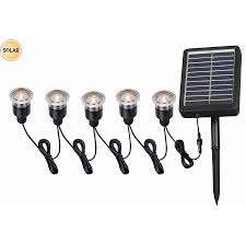 portfolio solar path lights shop portfolio 12x 0 5 watt 5 light black solar led step light kit