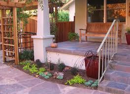 front porch garden landscape mediterranean with tile traditional