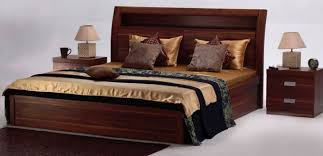 Godrej Bedroom Furniture The Finish Of The Aura Bed Set Adds The Warmth Of Wood To