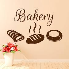 online buy wholesale bakery wall decorations from china bakery dctop bakery wall decor sticker vinyl removable hot bread decals hollow out design living room decoration