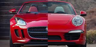 jaguar f type vs porsche 911 jaguar f type roadster vs porsche 911 cabriolet the official